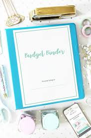 Binder Cover Page Budget Binder For 2020 With Free Printables Abby Lawson