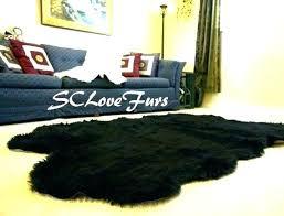black faux fur carpet black fur area rug black fur area rug black faux fur rug