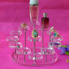Acrylic Perfume Display Stand 100 Acrylic Small Ring Earring Jewelry Display Stand Holder Nail 61