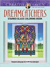 Books About Dream Catchers Creative Haven Dreamcatchers Stained Glass Coloring Book Adult 77