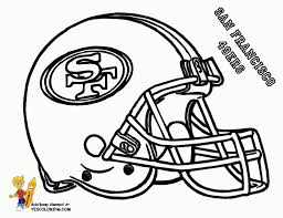 Nfl Helmet Coloring Pages Glandigoartcom