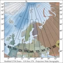 Universal Transverse Mercator Coordinate System Wikipedia