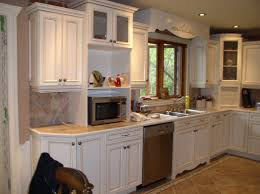 Refaced Kitchen Cabinets How To Refurbish Kitchen Cabinets After Kitchen Before Kitchen