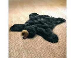 plush animal rug deer faux animal rug black bear plush skin hide rugs deer modern plush animal rug