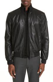 emporio armani leather er jacket