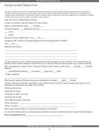 Report Incident At Work School Template Word For Resume Teachers