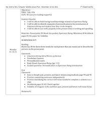 ms groh`s mrs schwartz` weekly lesson plan