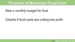 food percentage calculator food cost formula excel food costs formula how to calculate