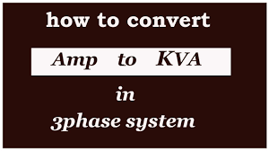 Generator Kva To Amps Chart How To Convert Amps To Kva 3 Phase Urdu Hindi