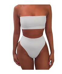 Two Piece <b>Tube Top Bikini</b> in <b>2019</b> | Swimsuits