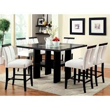 Furniture of America Lumina 7 Piece Light Up Counter Height Dining