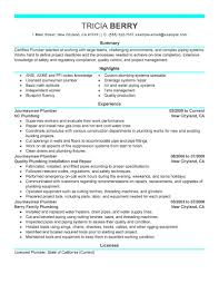 Plumber Resume Examples Free Resume Example And Writing Download