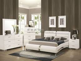 Bedroom: Queen Bedroom Furniture Fresh Q Felicity White Chrome 6pc Queen Bedroom  Set - Queen