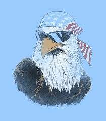 Patriotic Eagle Women's Funny T-Shirt | Headline Shirts