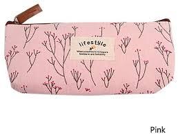 fashion new nice flower fl pencil pen case cosmetic makeup bag storage pouch purse women fashion bag
