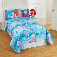 little mermaid twin full bed comforter flower swirls blanket com