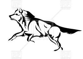 Wolf Vector Art Archidev
