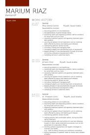 Dentist Resume samples