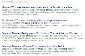 the fallacy of got s women on top part empowerment the  this particular section tackles the misguided notion that violence as a path to empowerment