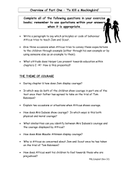 to kill a mockingbird essay topics overview of part one `to kill a mockingbird`