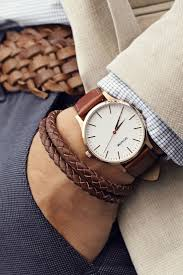 1000 ideas about mens watches leather nice mens rose gold natural leather men watches