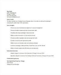 Sample Resume For Account Executive Executive Secretary Sample