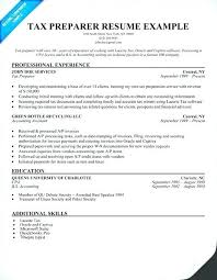 Cover Letter For Tax Preparer Position Tax Accountant Resume Foodcity Me