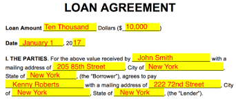 Alternative names for a loan agreement: Free Loan Agreement Templates Pdf Word Eforms