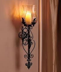 1 black hurricane wall candle sconce