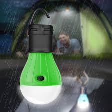 Waterproof Hanging Led Lamp Camping Tent Light Bulb Green