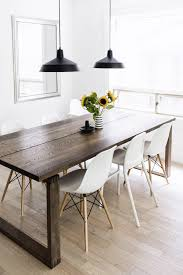 round table grand ave beautiful scandinavian inspired dining room mörbyl nga table eames chairs