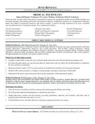 Medical Lab Tech Resume Sample Med Tech Resume Homely Medical