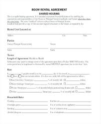 Room Rental Contract Room Agreement Form 9 Sample Forms Example Format Free