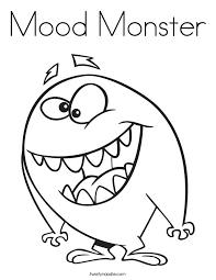 Small Picture Mood Monster Coloring Page Twisty Noodle