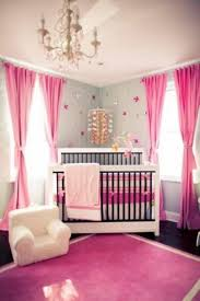 baby girl nursery room with pink curtains and area rug rugs seagrass custom round mohawk