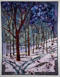 1247 best Landscape quilts images on Pinterest | Quilt block ... & Home Before Dark, machine pieced, free-motion machine quilted winter  landscape Adamdwight.com
