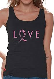 Amazon Com Awkward Styles Womens Love Pink Ribbon Tank Top
