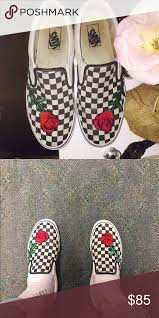 gucci vans custom. custom rose embroidered checkered vans vans. i truly love how these gucci