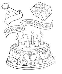 Small Picture Happy Birthday Cake and Gifts Coloring Pages Coloring Pages