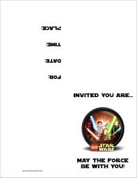 lego star wars printable birthday party invitation email