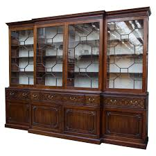 Chippendale China Cabinet Mahogany Chippendale Period Breakfront Bookcase Antiques Modern