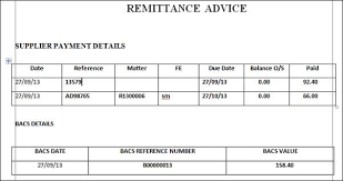 Payment Remittance Template Adorable 48 Free Remittance Advice Templates Word Excel PDF Templates