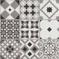 vibe grey mosaic patterned wall and floor tiles 223 x 223mm white