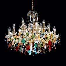 exclusive vintage design gold plated crystal chandelier
