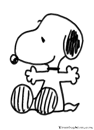 Small Picture Snoopy coloring page Kindergarten Second Grade Pinterest