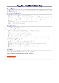 Adjunct Professor Resumes Adjunct Professor Resume Great Sample Resume