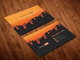 painting company business card template