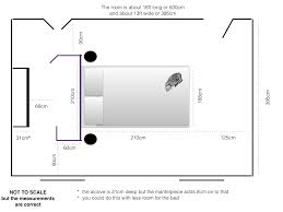 measurements for a walk in wardrobe