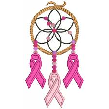 Breast Cancer Dream Catcher Awesome Cure Breast Cancer Dream Catcher Applique Machine Embroidery Design