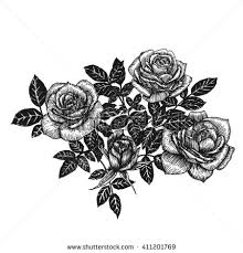 Small Picture Flowers Set Hand Drawn Rose Vector Stock Vector 436070629